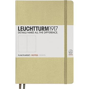 LEUCHTTURM1917 354594 Notizbuch Medium (A5), Hardcover, dotted, Sand
