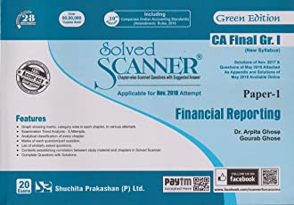Shuchita CA Final Group 1 Paper-1 Financial Reporting Solved Scanner Green Edition