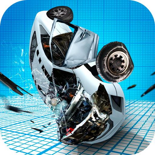 Sports Car Demolisher Accident - Breaking Crash Test Simulator