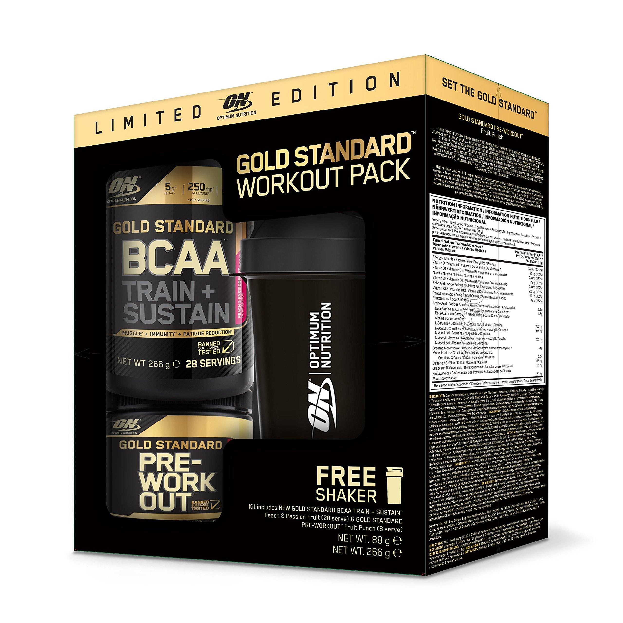 OPTIMUM NUTRITION BCAA266gPeach/PassiFr+Pre-WorkO88gFruPu +Shaker400