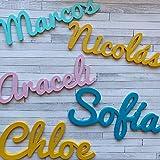 Nombres Decorativos Personalizados de madera para Decoración del Hogar, Comunión, Boda, Cumpleaños y Habitación de Bebe infan