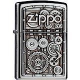 Zippo Gear Wheels Mechero, Metal, Satin Chrome, 3.5x1x5.5 cm
