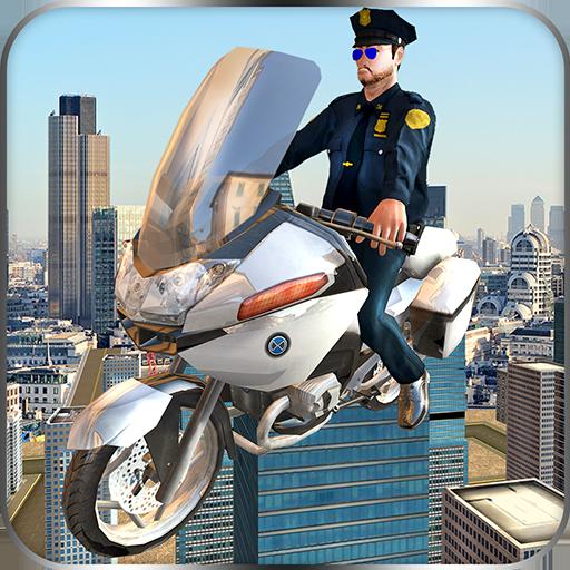 Fliegende Polizei Bike Flight Simulator 3D: Chase tödliche Verbrecher Mafia Gangster in Vegas Crime City Abenteuer Spiel kostenlos für Kinder 2018