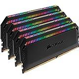 Corsair Dominator Platinum RGB 32Go (4x8Go) DDR4 3600MHz C18, Eclairage LED RGB dynamique Kit de Mémoire – Noire