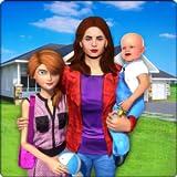Virtuelle Familie Neues Baby Single Mom Adventure