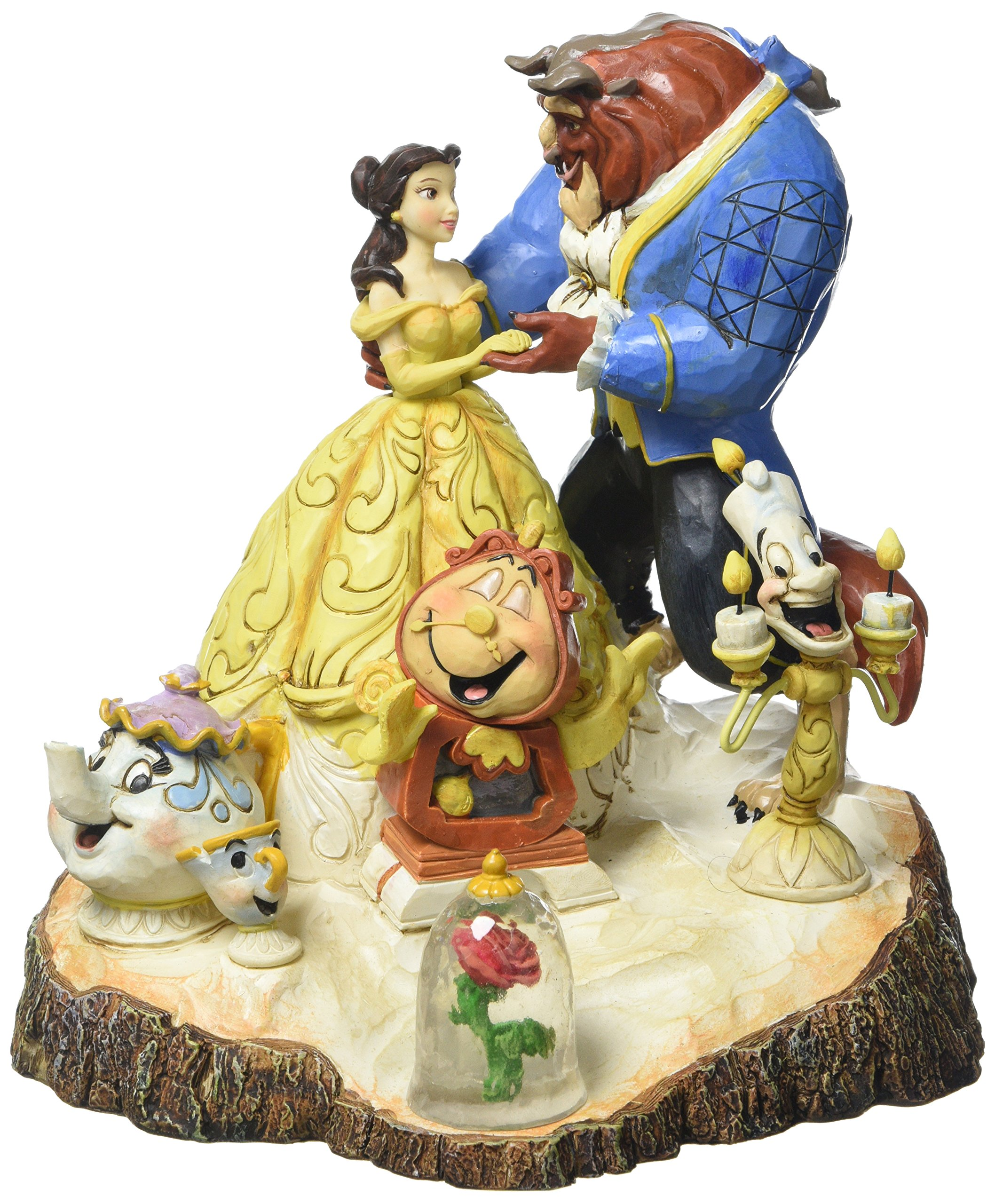 Disney Traditions Carved By Heart Beauty And Beast Figurine