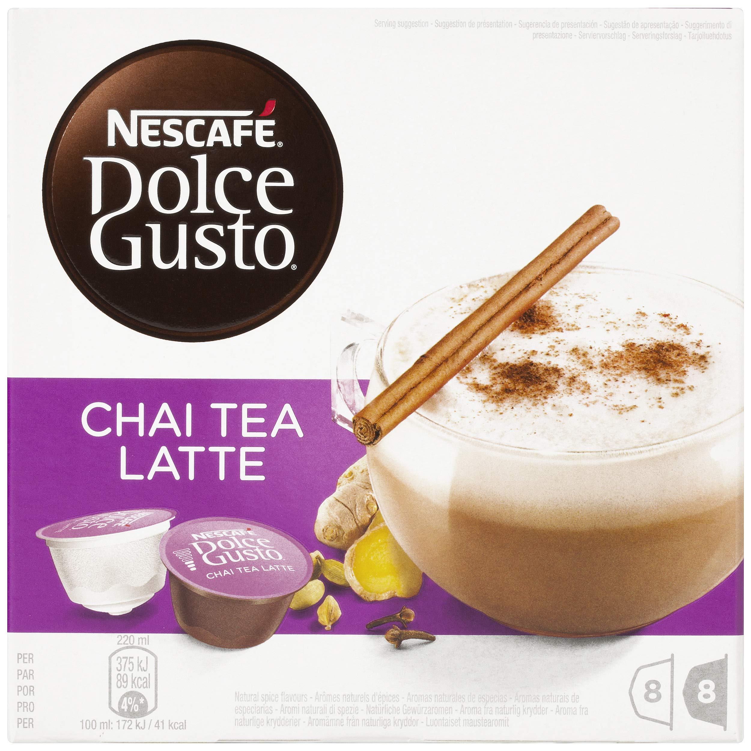 NESCAFÉ Dolce Gusto Chai Tea Latte, Pack de 3 x 16 Cápsulas – Total: 48 Cápsulas de té