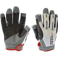 Motivex® - Guanti da vela professionali, colore bianco/rosso, taglie dalla S alla XL
