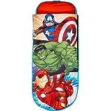 Worlds Apart Avengers-Junior-ReadyBed – sovsäck för barn och luftsäng i ett, polyester, röd, 150 x 62 x 20 cm