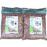 Kokoseinstreu grob 20 Liter (2x 10 Liter) (EUR 0,59/Liter), Kokoschips, Einstreu geeignet als Käfig Bodenbedeckung für Kaninchen, Meerschweinchen, Degus, Ratten und andere Nagetieren, ebenso geeignet für Schlangen, Schildkröten und andere Reptilien
