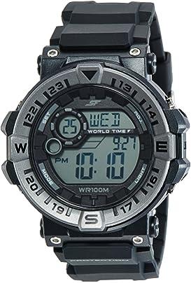 Sonata Fibre  SF  Digital Black Dial Men's Watch NM77061PP01 / NL77061PP01