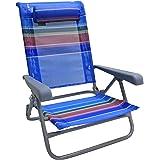 Homecall Beach Folding chair with rainbow textilene 7 position adjustable