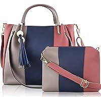 SaleBox® P.U. Leather Handbag Set of Two Shoulder Bag with Sling Bag leather handbags Set for girls stylish latest Ideal…