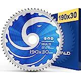 FALKENWALD ® Cirkelzaagblad 190 x 30 mm voor hout, metaal en aluminium - zaagblad 190 x 30 compatibel met handcirkelzaag van