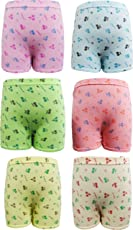 UCARE Girls Cotton Printed Bloomers/Panties (613-Pack of 6)