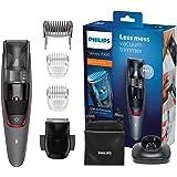 Philips Serie 7000 BT7512/15 - Recortador de barba, sistema de aspiración, ajuste fino cada 0.5 mm para el estilo deseado, 5