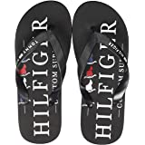 Tommy Hilfiger Men's Nautical Print Beach Sandal Open Toe, Red (Primary Red XLG), 7 UK