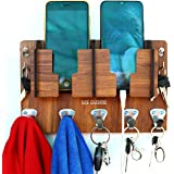 US DZIRE ™ 827 Antique Mobile Charging Stand Key Holder, Cloth Hanger for Rumal, Toval Suitable for Living Room, ketchen…