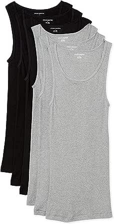 Amazon Essentials Men's Round neck Vest, Pack of 6