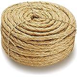 Supremery Natural Sisal Rope voor katten - Sisal Rope voor Cat Tree Cat Tree extra robuust en duurzaam - 30 meter, 8 mm dik