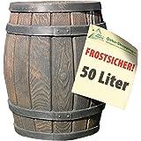 Regentonne Eichenfass, Regenfass 50l, Fass, HOLZ-DESIGN AUCH ERHÄLTLICH IN 240L (B003EQT5OO), 120L (B003EQEJWC) u. 450L (B003ELUHQ4). HIER DIE SCHÖNSTEN!