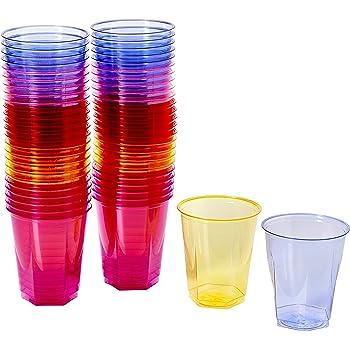 Drinkstuff Bicchieri di plastica Usa e getta 250ml, Set di 50 pezzi