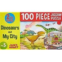 Amazon Brand - Jam & Honey Dinosaurs and My City Puzzle (100 Pieces)