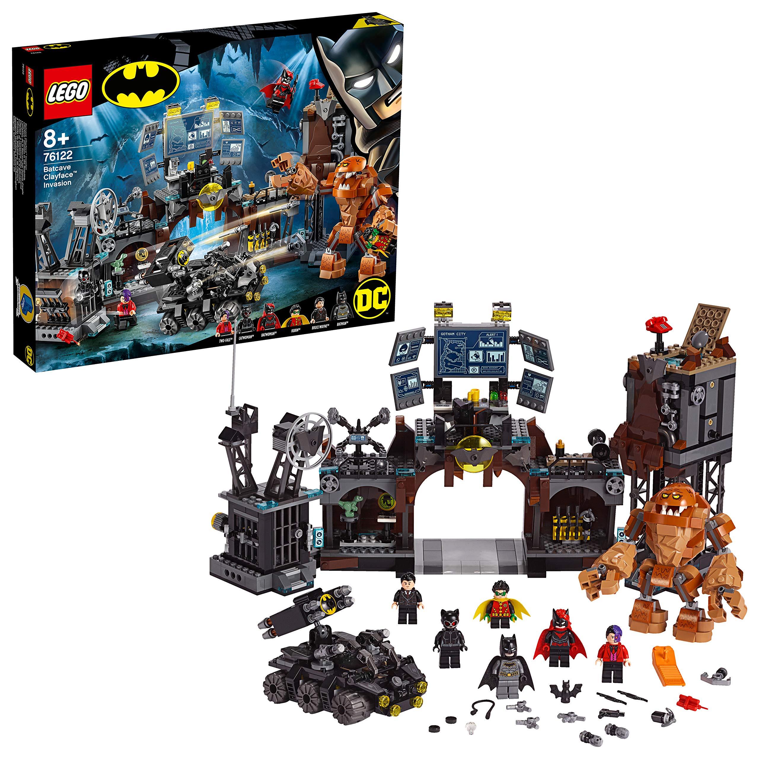 LEGO Super Heroes – Irrupción de Clayface en la Batcueva Set de construcción de Batman, incluye un Vehículo del Superhéroe para Recrear sus Aventuras, Novedad 2019 (76122)