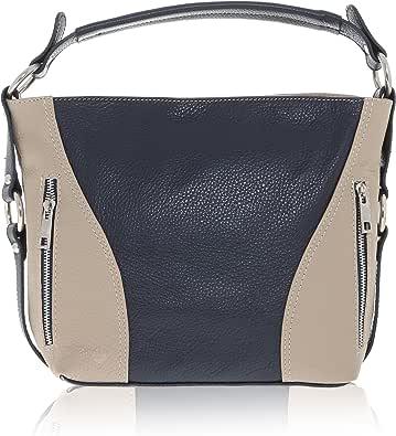 Chicca Borse - Shoulder Bag Borsa a Spalla da Donna Realizzata in Vera Pelle Made in Italy - 23 x 14 x 8 Cm