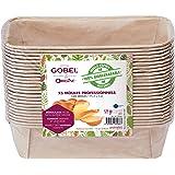 GOBEL - Pack de 25 Moules Professionnels Cakes - Moules Jetables en Papier Naturel 100 % Biodégradable - Adaptés au Four, Réf