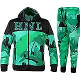 Flirty Wardrobe - Conjunto de chándal HNL con capucha para niños, de forro polar, unisex