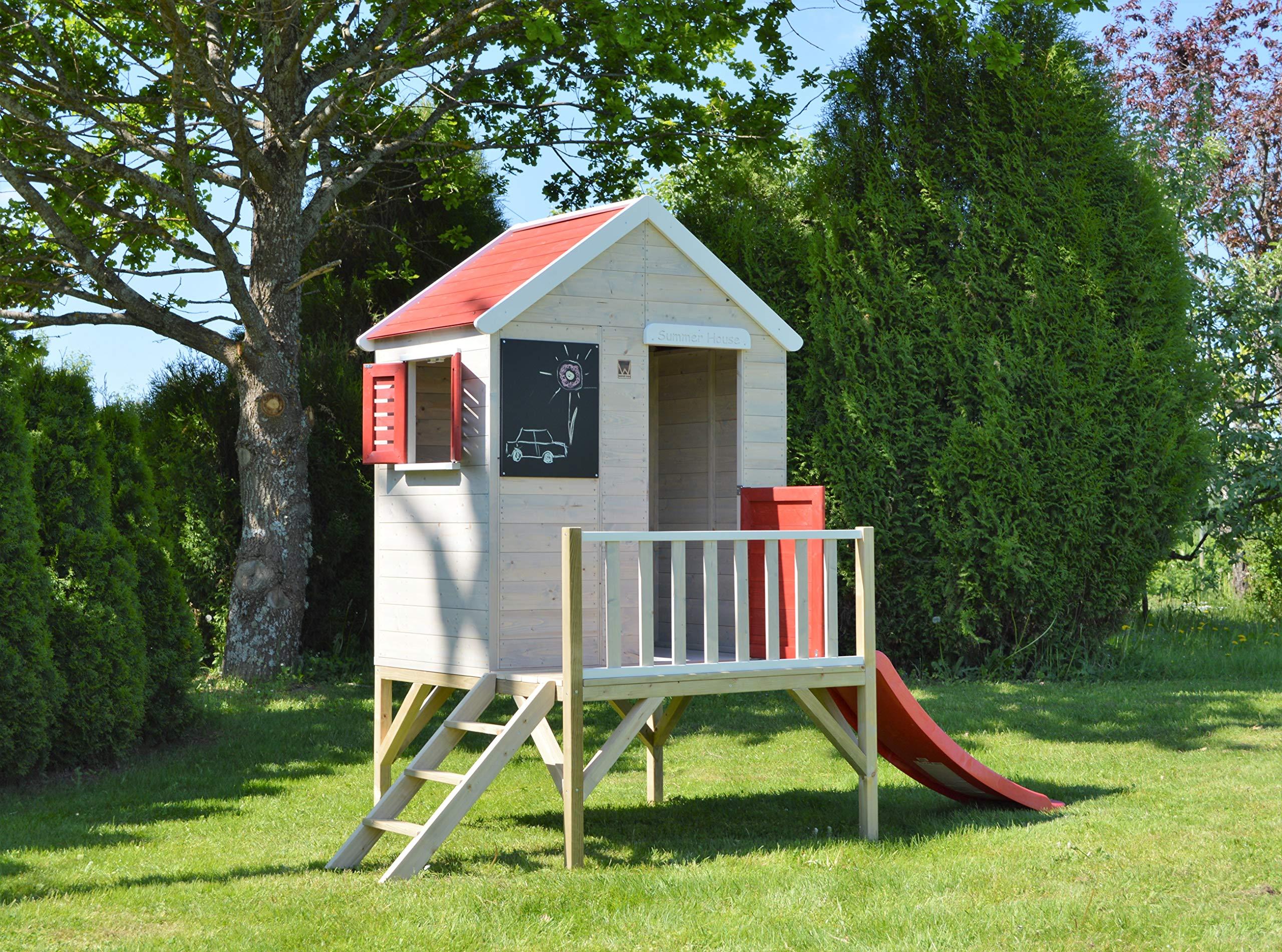 Casette Per Bambini In Legno : Casetta per bambini in legno su piattaforma per esterno giardino