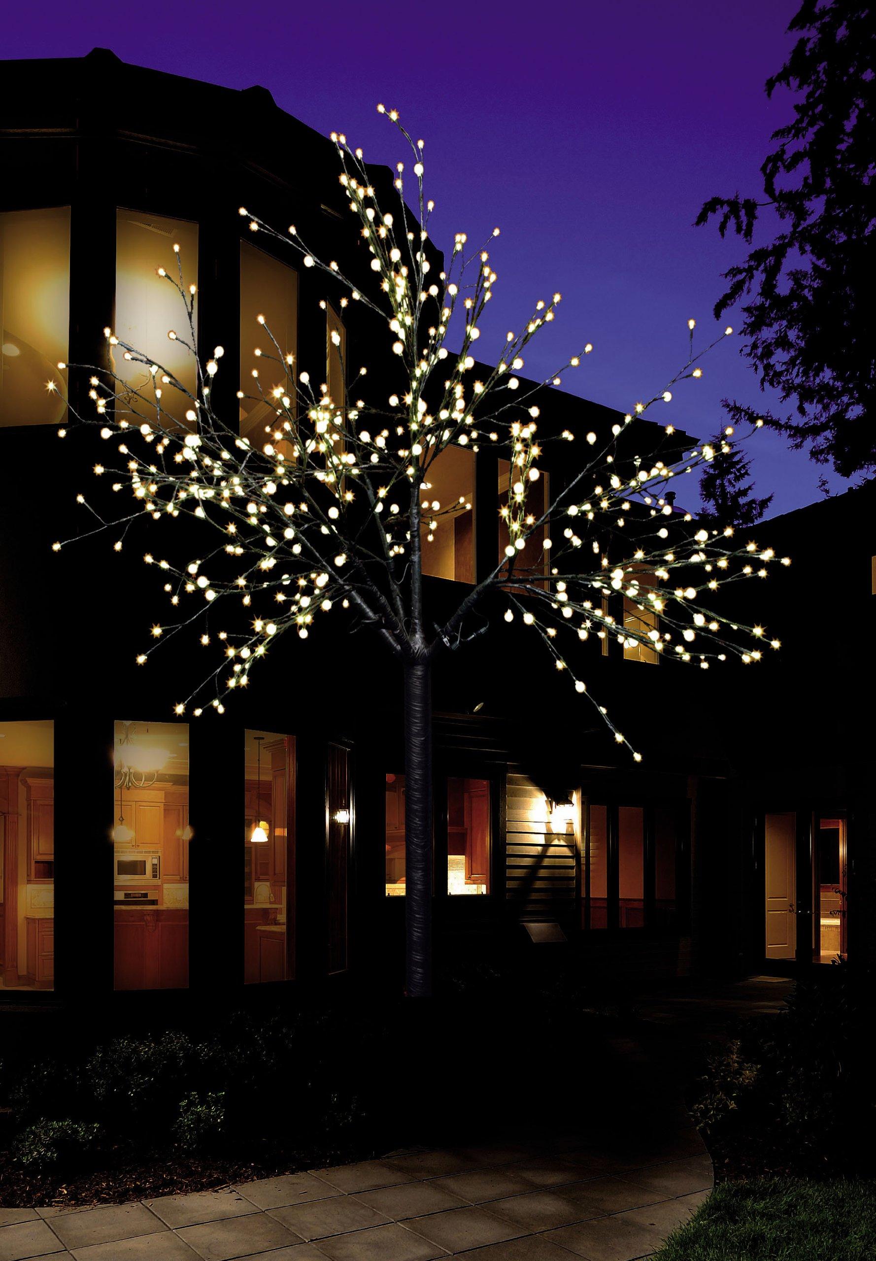 LED-Lichterbaum-mit-500-LEDs-beleuchtet-220-cm-hoch-Warm-Wei-Lichterzweig-Lichterkette-Weihnachtsbaum-LED-Baum-fr-Innen-und-Auen