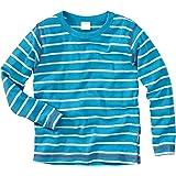 WELLYOU Camiseta de Manga Larga Azul con Rayas Turquesa. Tallas 56-146