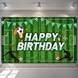 Telón de Fondo de Fiesta de Cumpleaños de Fútbol Fondo de Foto de Campo de Fútbol Decoraciones de Fiesta de Cumpleaños de Tem