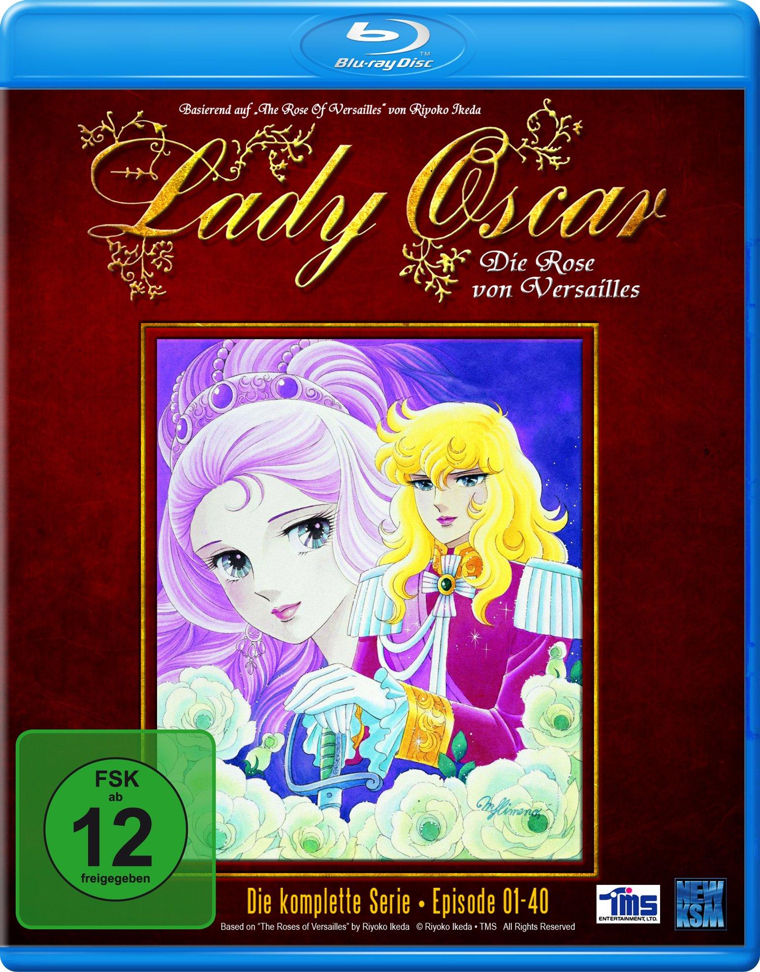 Lady Oscar - Die Rose von Versailles - Die komplette Serie: Episode 01-40 [Blu-ray] [Edizione: Germa