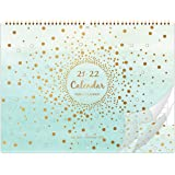 Amazon Brand - Eono 2021-2022 Wall Calendar, 18 Month Family Planner Calendar from January 2021 to June 2022, Family School M