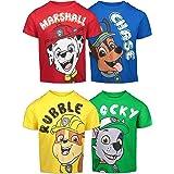 Nickelodeon Paw Patrol Chase Marshall Rocky Rubble Paquete de 4 camisetas de manga corta