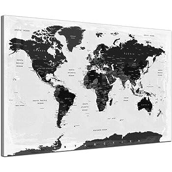 Spiral Digital Weltkarte Kork Pinnwand Städte Länder Namen