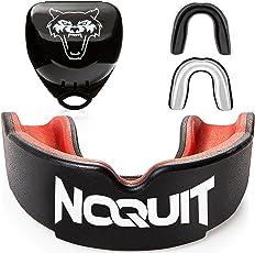 NOQUIT  Kampfsport Zahnschutz mit hygienischer Transport Box - anpassbarer Sport Mundschutz für Erwachsene - perfekt für Boxen, MMA, Kickboxen, Muay Thai, American Football & Hockey - Gratis Anleitung