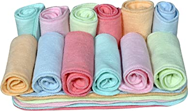 CHINMAY Kids® Wet-Free Microfiber Inserts Washable Microfiber Baby Cloth Diaper Inserts 3 Layers Each Insert for Diapers Pocket Mat Nappy Changing Liners (Set of 18 Multicolor)