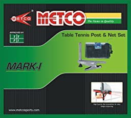 Metco Mark-I Table Tennis Post with Net (Grey)