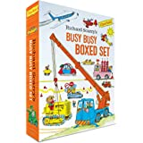 Richard Scarry's Busy Busy Boxed Set: Busy Busy Airport; Busy Busy Cars and Trucks; Busy Busy Construction Site; Busy Busy Fa