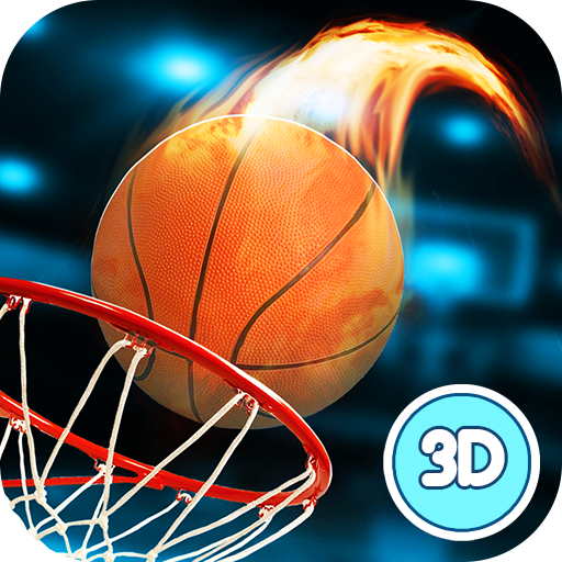 Basketball-slam-dunk-contest (Basketball Dunk Throwing Contest - Fire Marked Hoops)