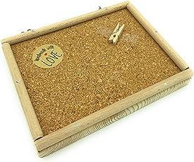 Vitezza Vogel-Sitzbrett ML mit Korkboden, Umrandung aus Buchenholz inkl, Befestigungsmaterial aus Edelstahl mit Extra großen Scheiben