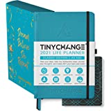 TINYCHANGE 2021 Classic Life Planner Diary; Daily; Weekly and Monthly Organizer Stationery Notebook Habit Tracker and Gratitu