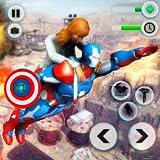 Flying Robot Captain Superhero City Survival Battle