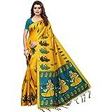 Anni Designer Indian Women's Kalamkari Silk Saree with Blouse Piece