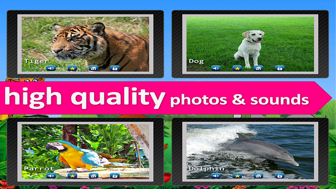 Kids Zoo, Animal sounds and pictures for Kids, with real