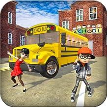High School Crazy Bus Simulator Conduite 3D: Enfants Transport Simulator Conducteur Parking Aventure Jeux gratuits pour les enfants 2018